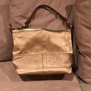Gold Coach bag
